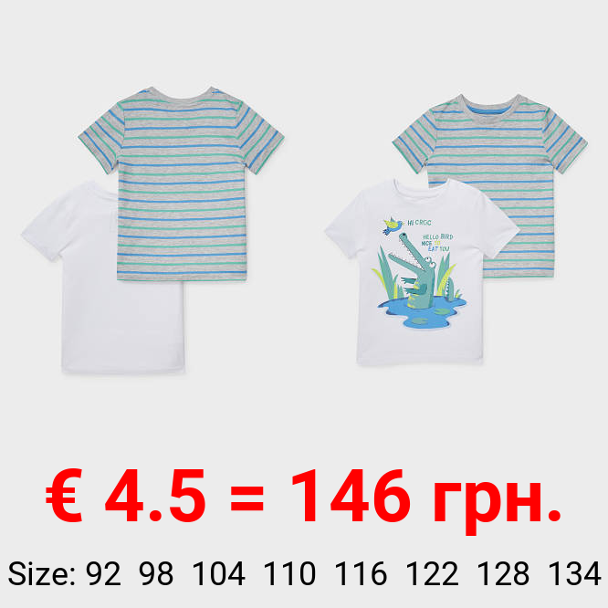 Multipack 2er - Kurzarmshirt - Bio-Baumwolle