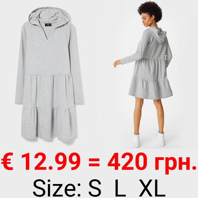 A-Linien Kleid mit Kapuze