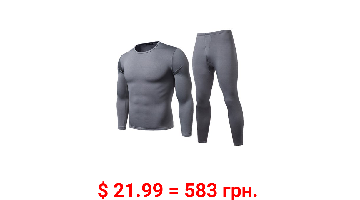 Eyicmarn Mens Thermal Underwear Set Skiing Winter Warm Base Layers Tight Long Johns Top and Bottom Set with Fleece Lined
