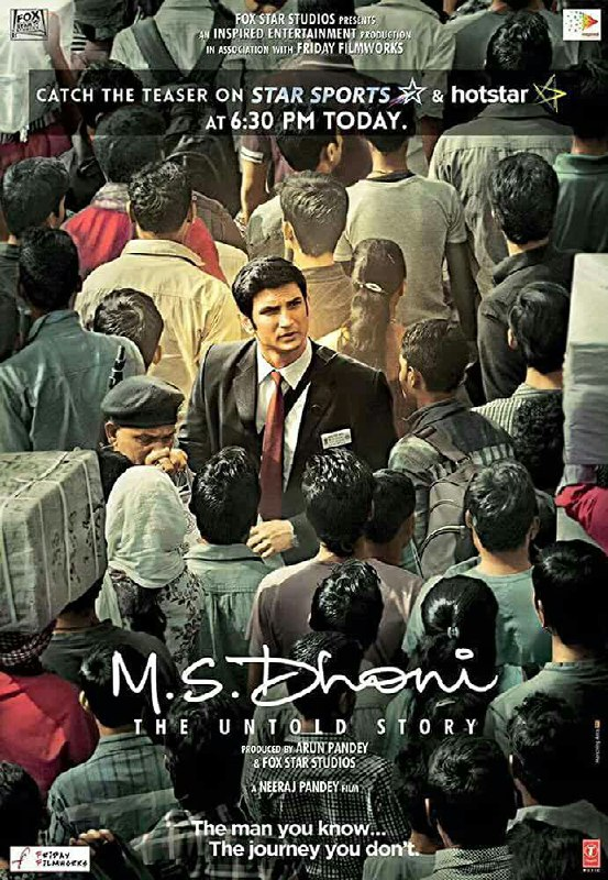 Free Download M.S. Dhoni: The Untold Story Full Movie