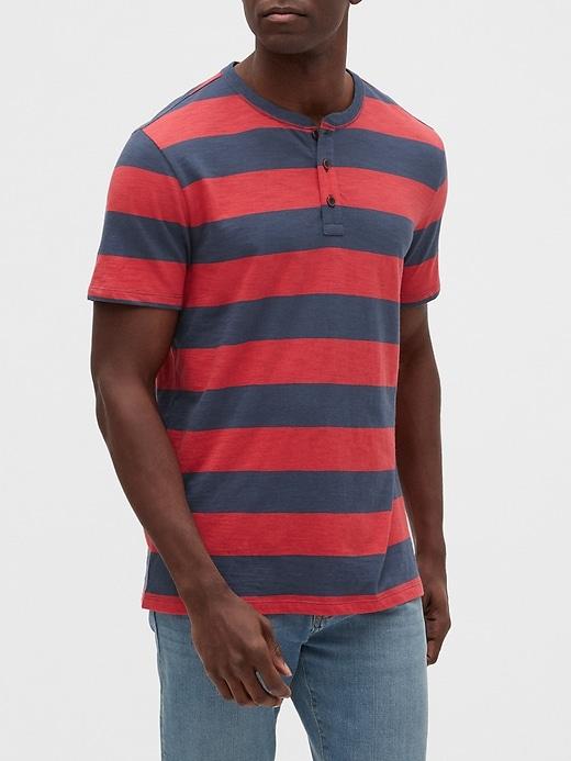 Stripe Henley T-Shirt