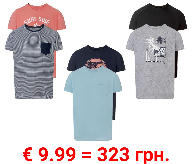 LIVERGY® T-Shirts Herren 2 Stück