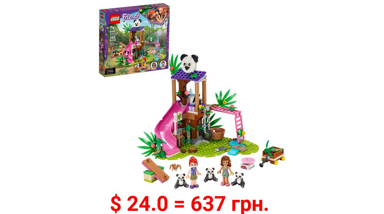 LEGO Friends Panda Jungle Tree House 41422 Set; Tree House Playset Features 3 Panda Toys (265 Pieces)