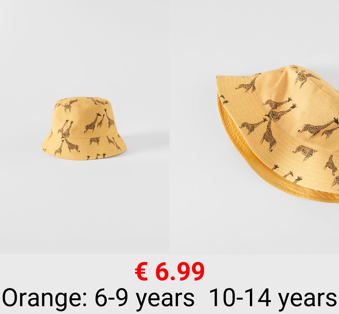 GIRAFFE BUCKET HAT