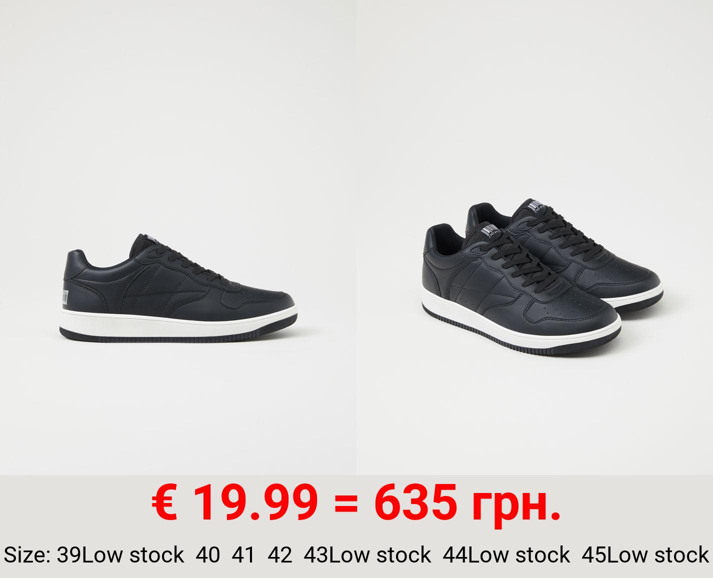 Contrast retro sneakers