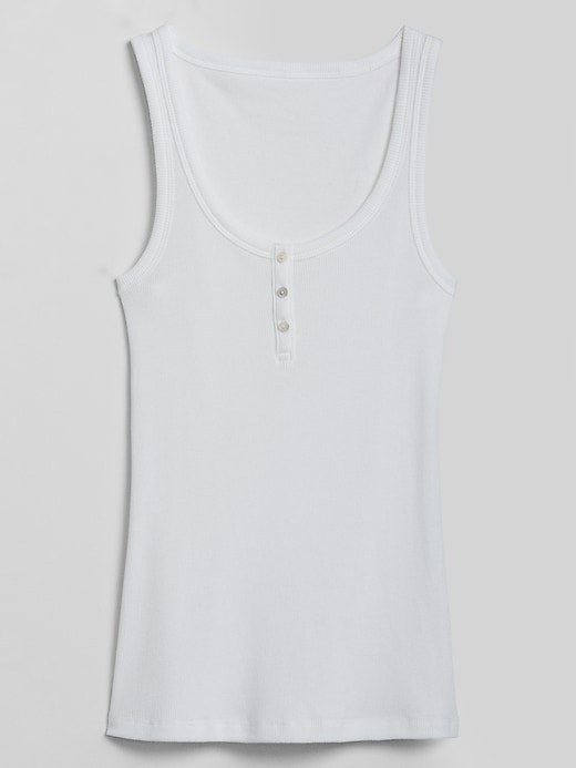 Button-Front Tank Top