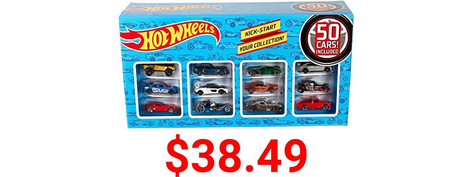 Hot Wheels Basic Car 50-Pack, Multicolor (V6697)