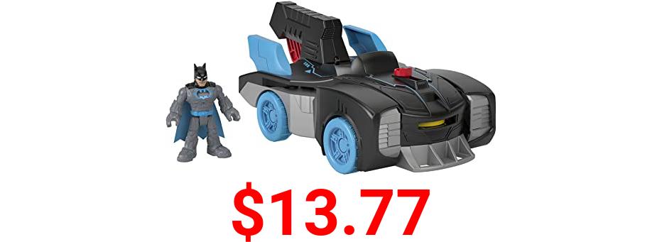 Fisher-Price Imaginext DC Super Friends Bat-Tech Batmobile, transforming push-along vehicle with light-up Batman figure for preschool kids ages 3-8
