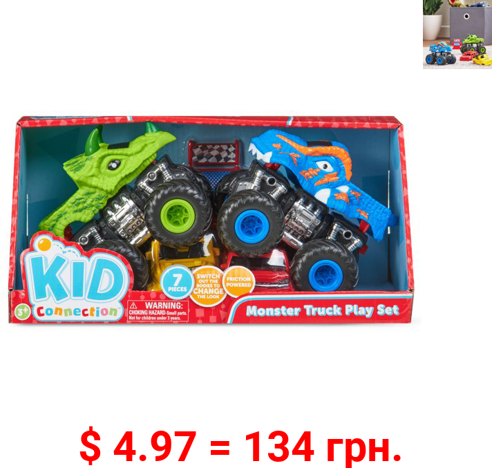 Kid Connection Monster Truck Play Set, 7 Pieces