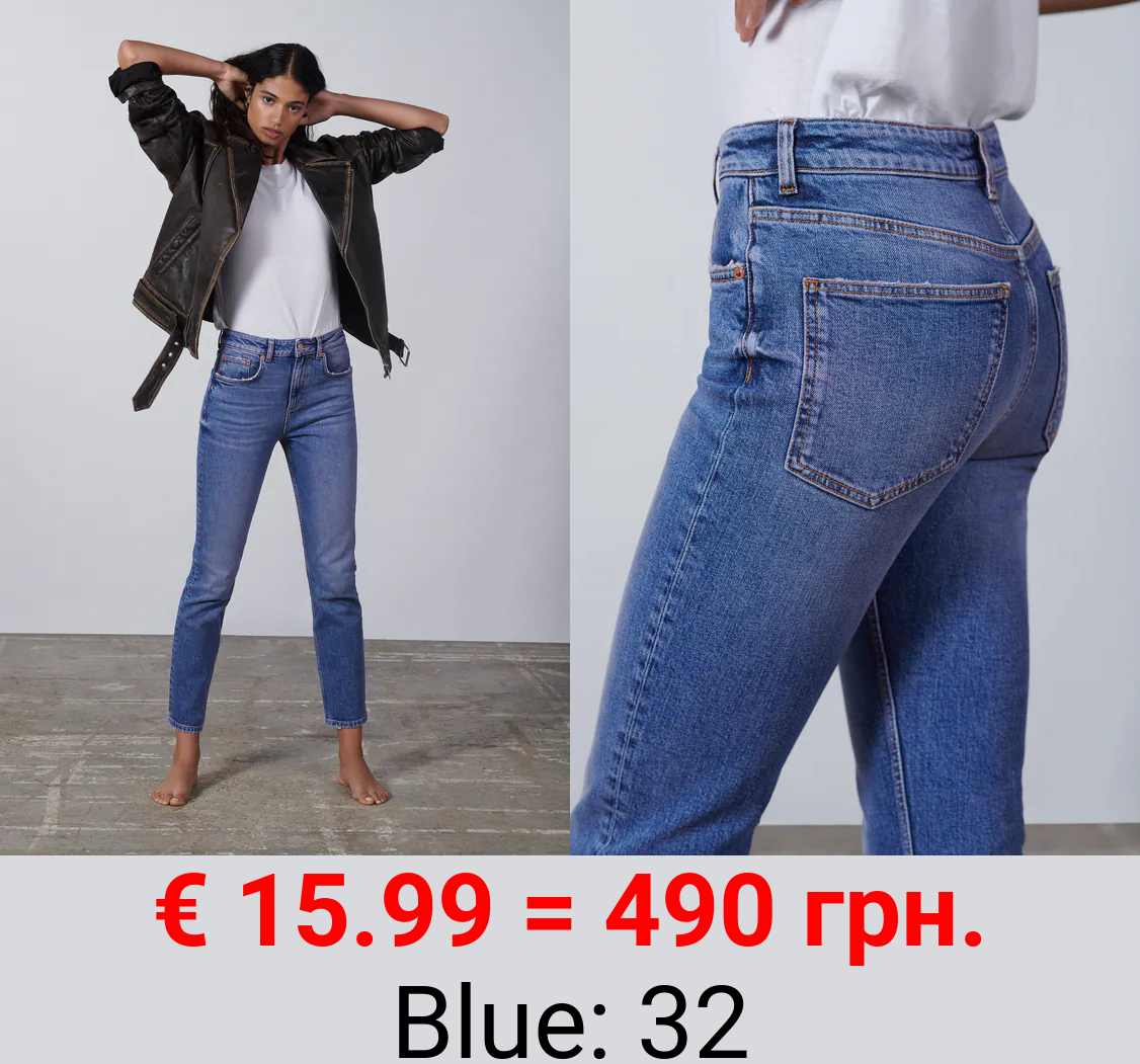 ZW THE 90'S SLIM CROPPED JEANS