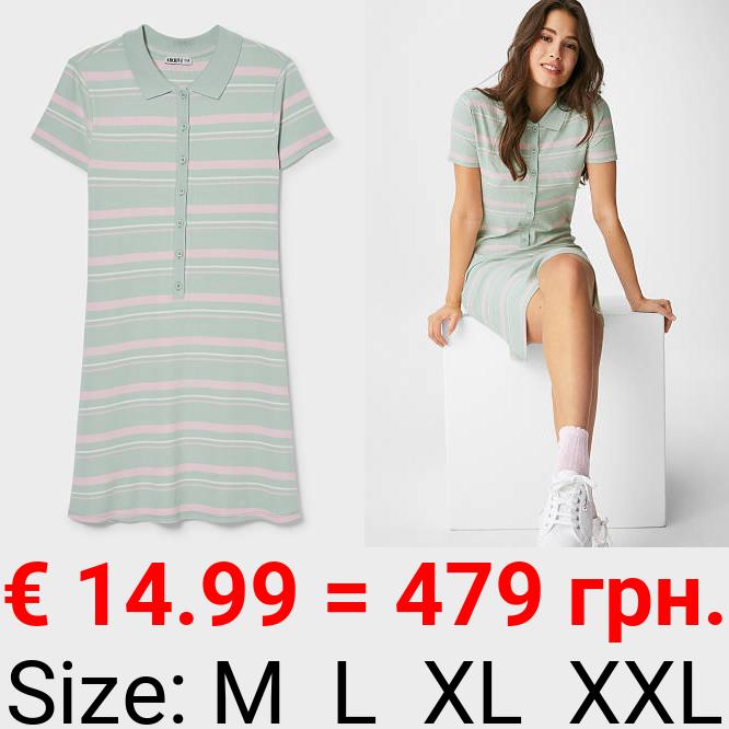 Polo-Kleid - gestreift