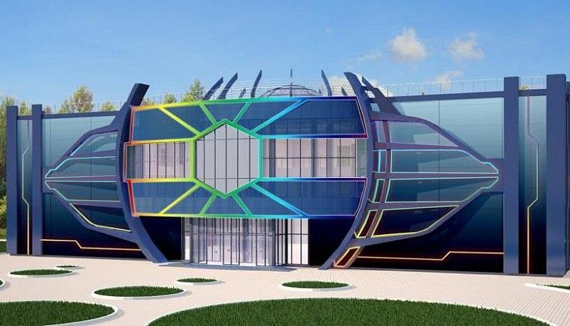 «Космопорт» в Хабаровске будет лиловым