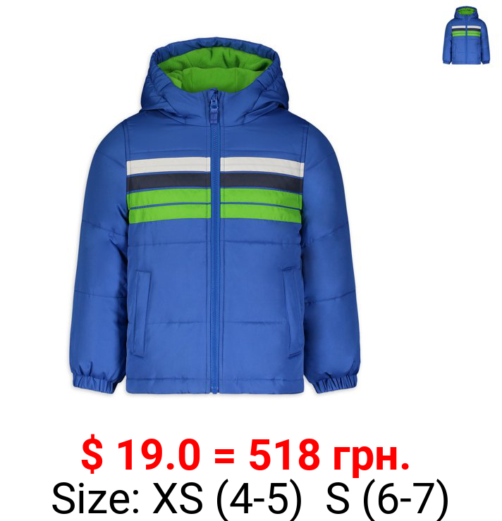 Weather Tamer Boys Puffer Coat, Sizes 4-18