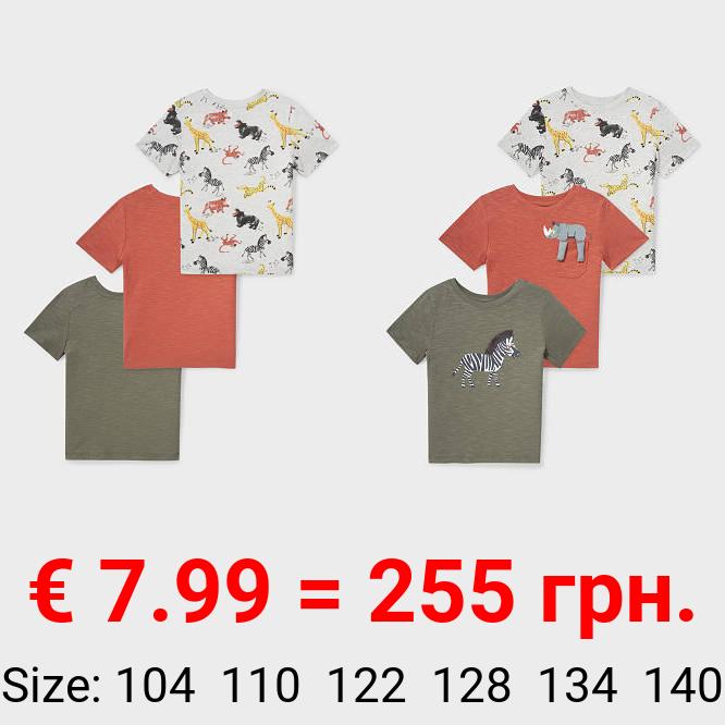 Multipack 3er - Kurzarmshirt - Bio-Baumwolle