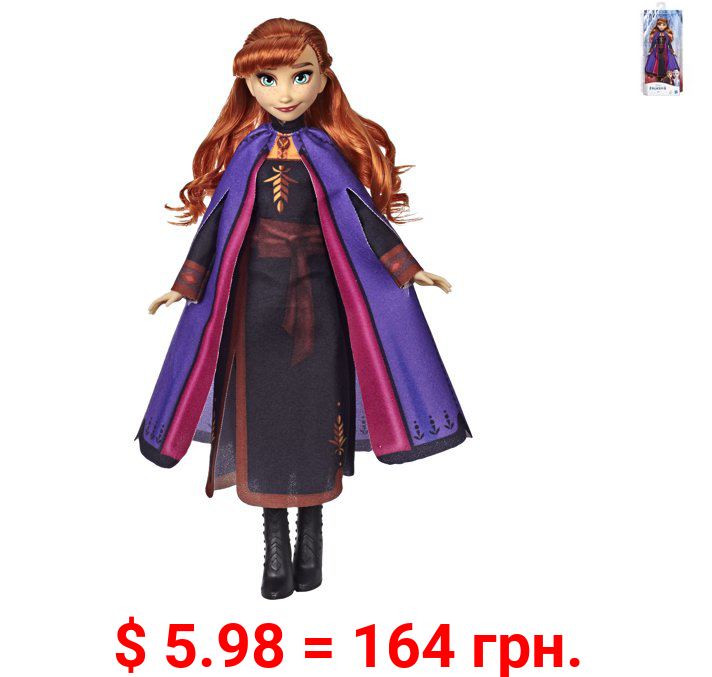Disney Frozen 2 Anna Fashion Doll with Long Red Hair, Includes Movie Outfit