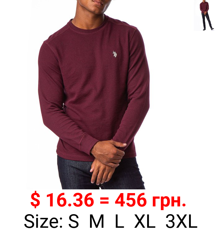 U.S. Polo Assn. Men's Solid Thermal Crew Tee