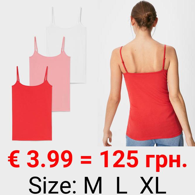 Multipack 3er - Basic-Top - Bio-Baumwolle