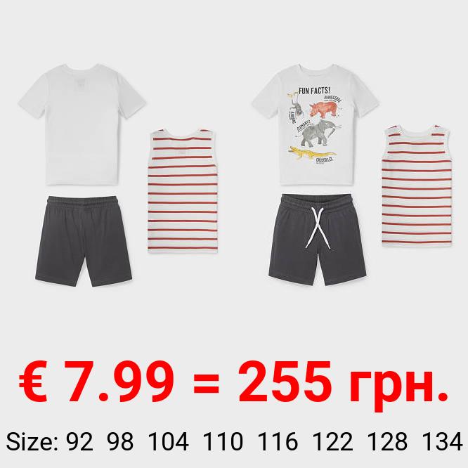 Set - Top, Kurzarmshirt und Sweatshorts - Bio-Baumwolle