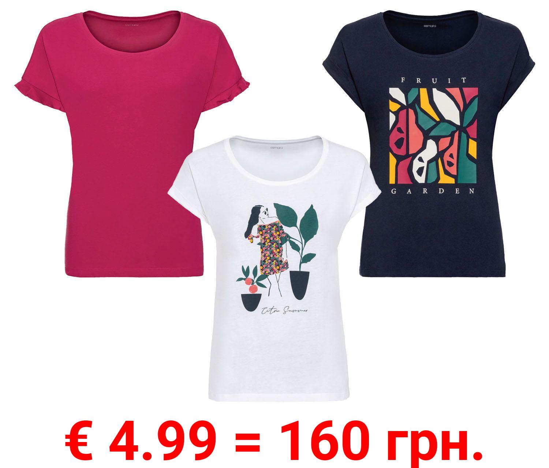 ESMARA® T-Shirt Damen, mit Rundhalsausschnitt