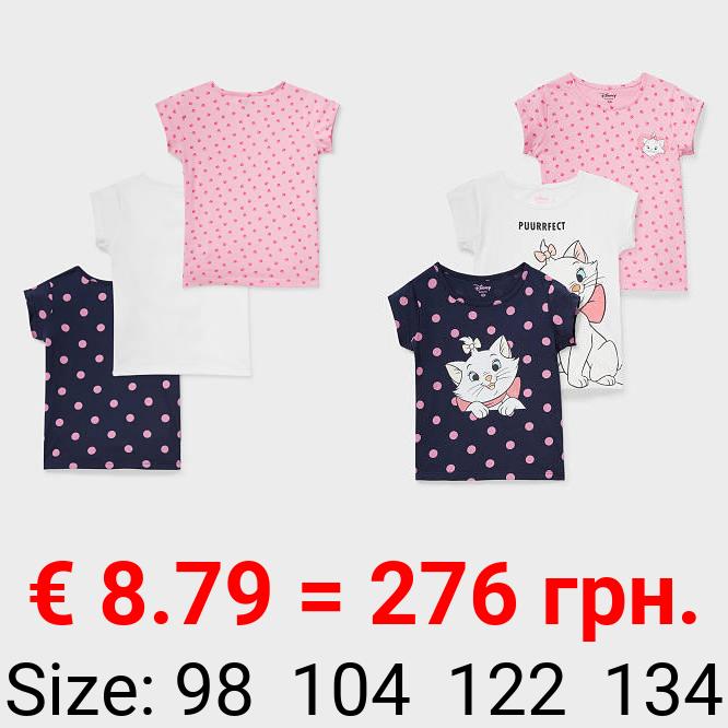 Multipack 3er - Aristocats - Kurzarmshirt - Bio-Baumwolle
