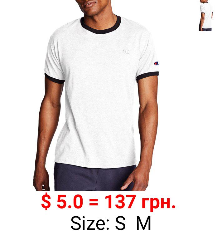 Champion Men's Jersey Ringer Mens T-Shirt, Sizes S-2XL, Champion Mens Tee Shirt