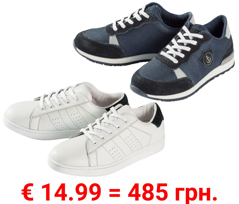 PEPPERTS® Sneaker Jungen, mit TPR-Laufsohle, Schnürung, Obermaterial aus Leder