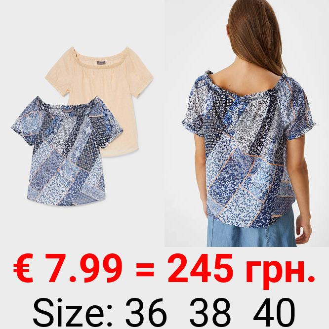 Multipack 2er - Bluse - Bio-Baumwolle