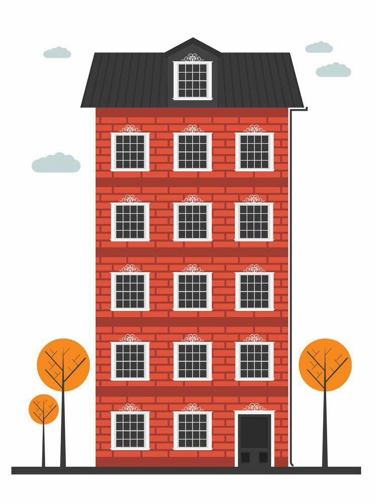 Многоэтажный домик картинка для детей