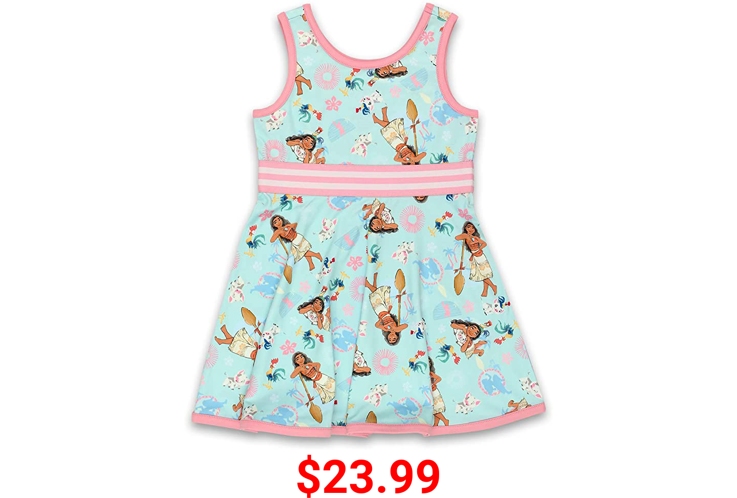 Disney Moana Toddler Girls Fit and Flare Ultra Soft Dress