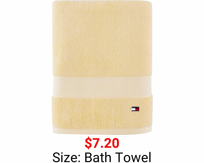 Tommy Hilfiger 100% Cotton Modern American Bath Towel, 30 x 54 inch, Sunshine