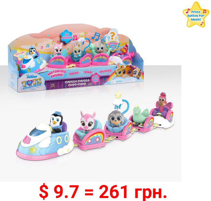 Disney Junior T.O.T.S. Chugga Chugga Choo-Choo Playset, 8 pieces, Figures, Ages 3 Up, by Just Play