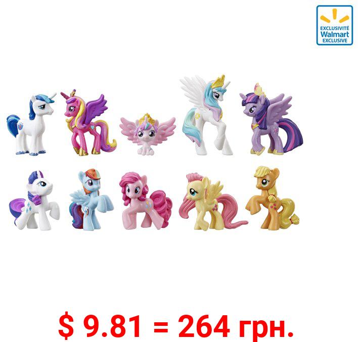 My Little Pony Toy Rainbow Equestria Favorites, Includes 10 pony Figures