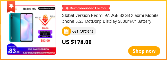 "Global Version Redmi 9A 2GB 32GB Xiaomi Mobile phone 6.53""DotDorp Display 5000mAh Battery MTK Helio G25 13MP AI Camera HDR 1080p"