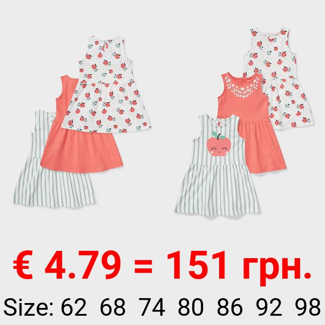Multipack 3er - Baby-Kleid - Bio-Baumwolle