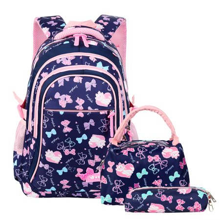 Kids School Backpack-Fitbest Kids Boys Girls School Backpack Set 3 in 1 Student Bookbag+Lunch Tote Bag+Pencil Case for 7-16 Years Old