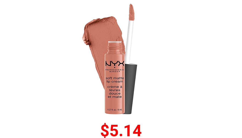 NYX PROFESSIONAL MAKEUP Soft Matte Lip Cream, Lightweight Liquid Lipstick - Athens (Matte Peach Beige)