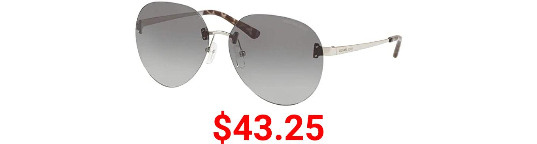 Michael Kors SYDNEY MK1037 Sunglasses 115311-60 - Men's, Shiny Silver Frame, MK1037-115311-60