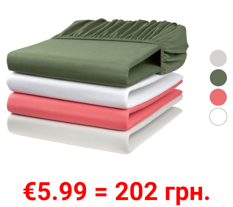 MERADISO® Jersey Spannbettlaken, 140-160 x 200 cm