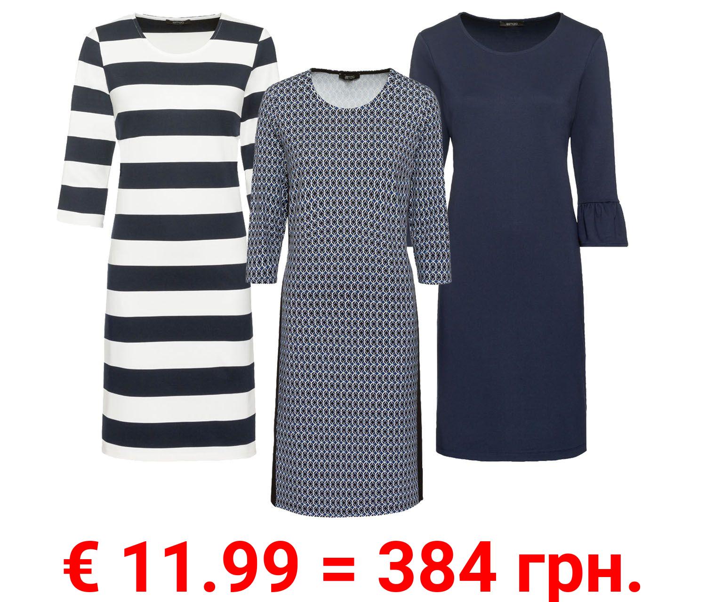 ESMARA® Kleid Damen, mit Rundhalsausschnitt