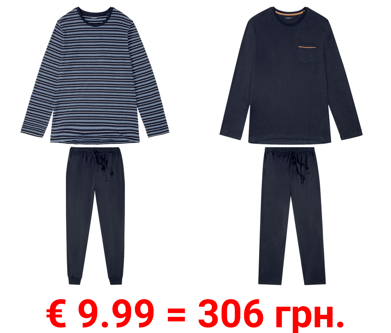 LIVERGY® Pyjama Herren, lang
