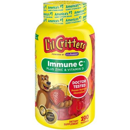 L'il Critters Kids Immune C Plus Zinc and Vitamin D, 190 Count
