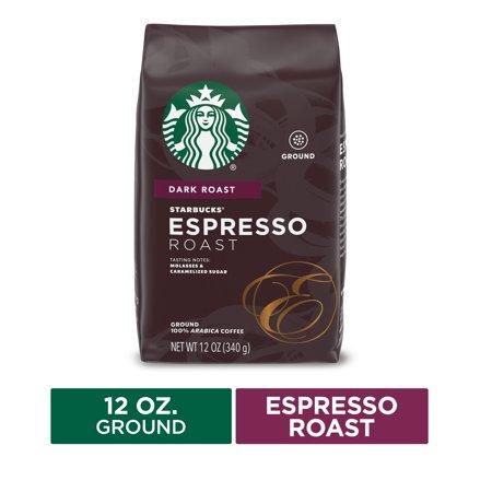 Starbucks Dark Roast Ground Coffee — Espresso Roast — 100% Arabica — 1 bag (12 oz.)