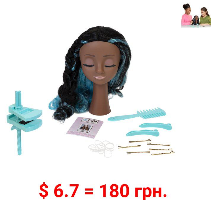 CGH Cute Girls Hairstyles! Styling Head - Black Wavy Hair Doll