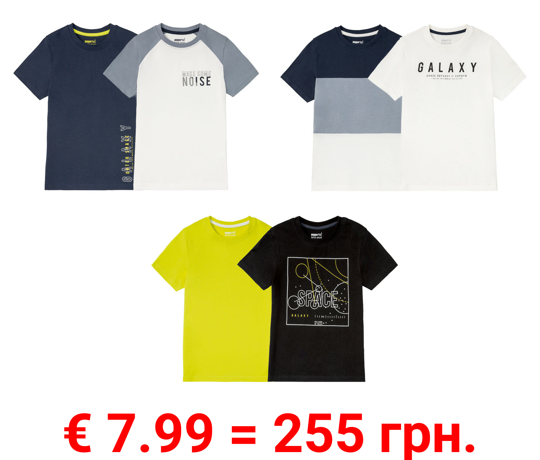 PEPPERTS® 2 Jungen T-Shirts, reine Baumwolle
