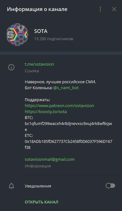 Донаты в Телеграм 1