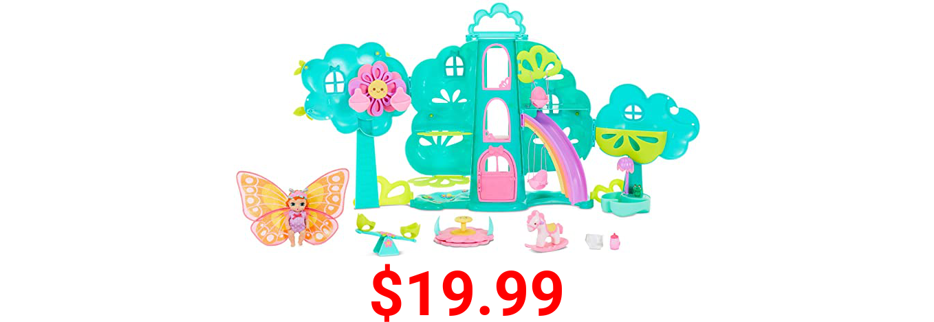 Baby Born Surprise Treehouse Playset with 20 Plus Surprises and Exclusive Doll, Multicolored