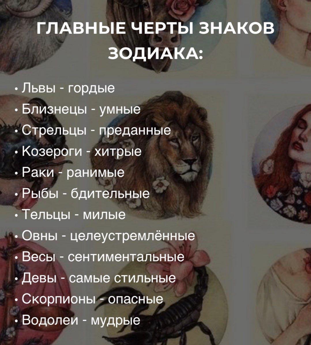 Знаки зодиака отдельные картинки если