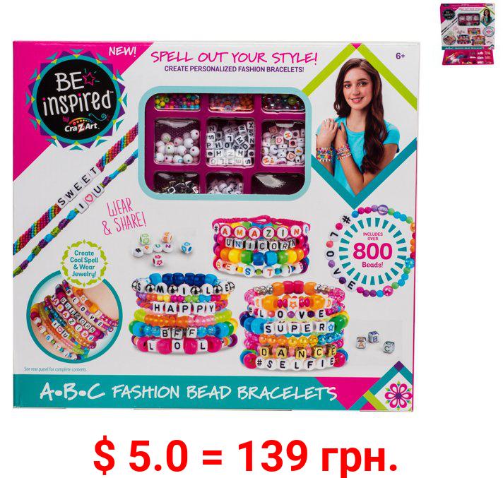 Cra-Z-Art Be Inspired ABC Fashion & Multi-Colored Bead Bracelet Studio