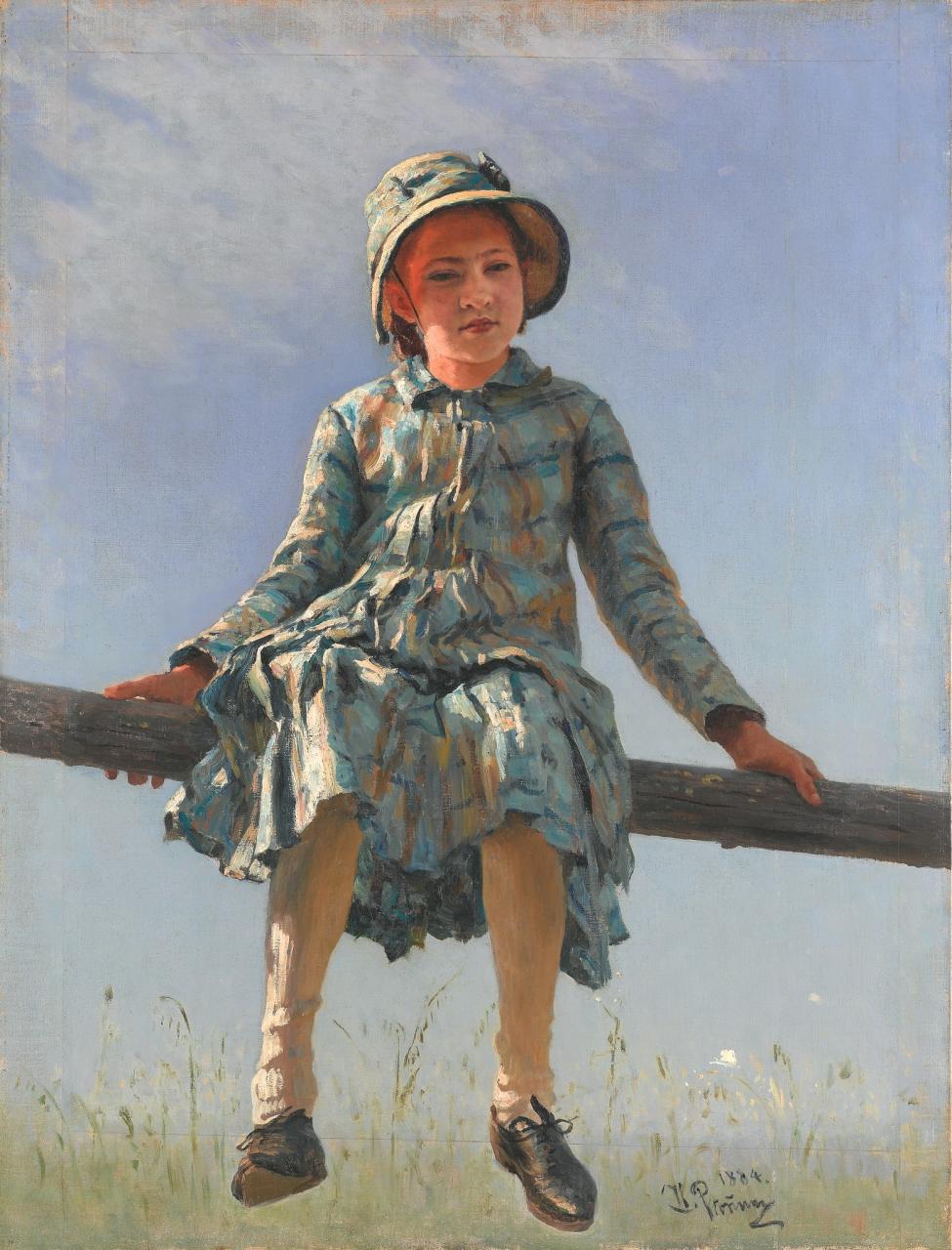 Репин Илья Ефимович (1844-1930)Стрекоза. Портрет В.И.Репиной, дочери художника111 х 84.4 холст, маслоТретьяковская галерея