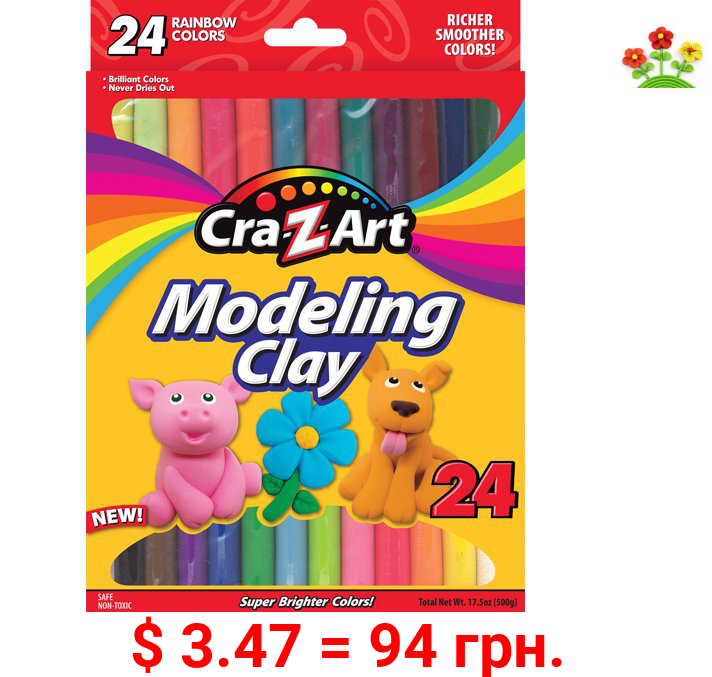 Cra-Z-Art Modeling Clay, 24 Count